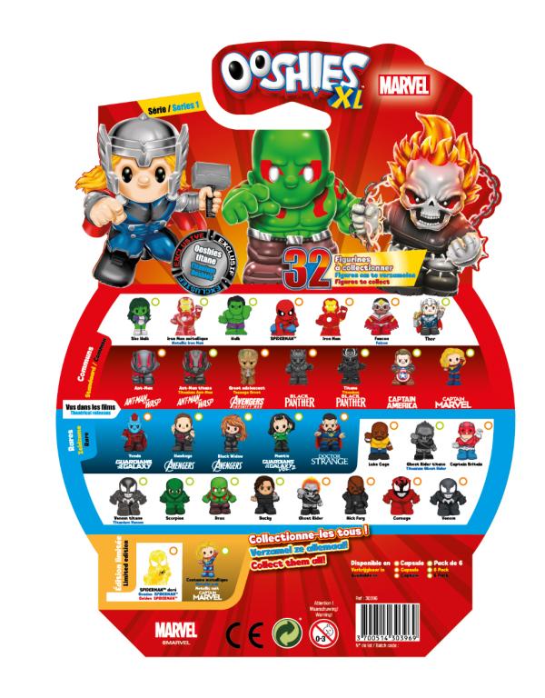 Pack de 6 XL Marvel