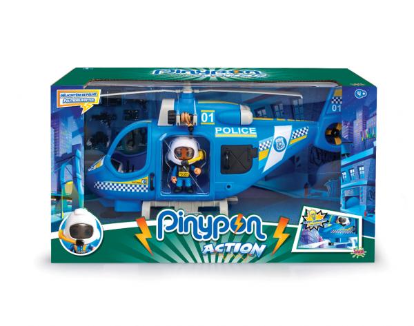 Pinypon Action Hélicoptère police