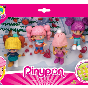 Pinypon Sport d'hiver 4 figurines