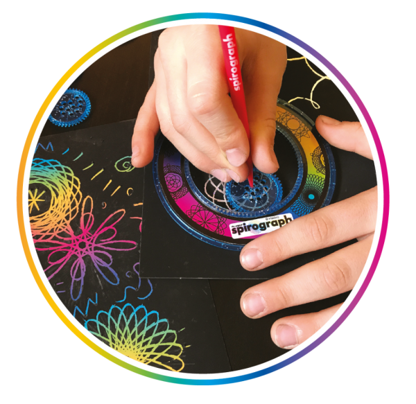 Spirograph Multicolore & Pailleté